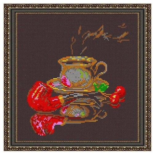 Светлица Набор для вышивания бисером Кофе для него 27 х 27 см, бисер Чехия (576П)