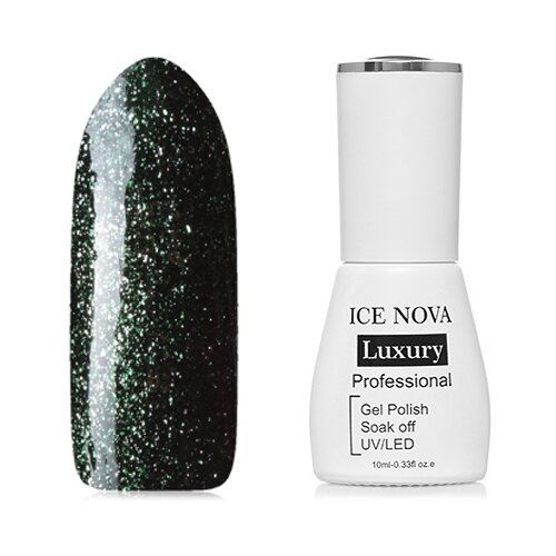 Гель-лак для ногтей ICE NOVA Luxury Professional Shiny Diamond Gel, 10 мл, оттенок №10 chi luxury black seed oil curl defining cream gel