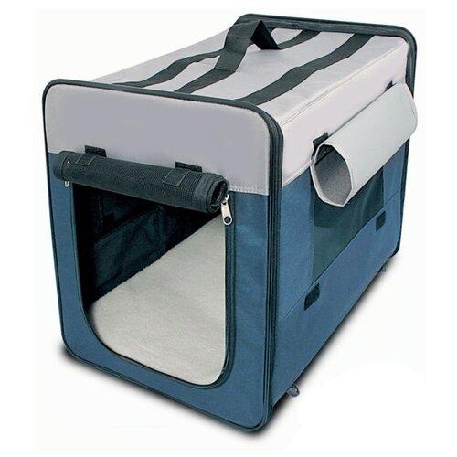 Домик-переноска для собак Triol Дом-тент 1047M 61х46х54 см синий сумка переноска для собак triol лаура 46х26 5х28 см голубой серый