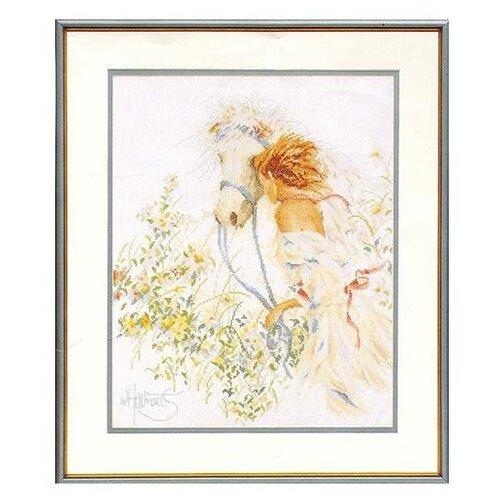 Lanarte Набор для вышивания Лошадь и цветы 39 x 49см (0007952-PN), Наборы для вышивания  - купить со скидкой