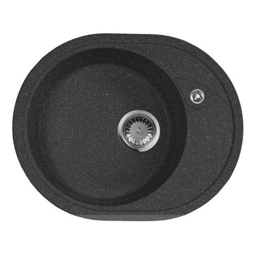 цена на Врезная кухонная мойка 57 см А-Гранит M-18L M-18L(308) черный