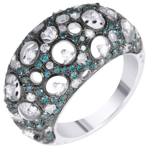JV Золотое кольцо с бриллиантами GR80318-WD-DBLD-KO-DL-WG, размер 17