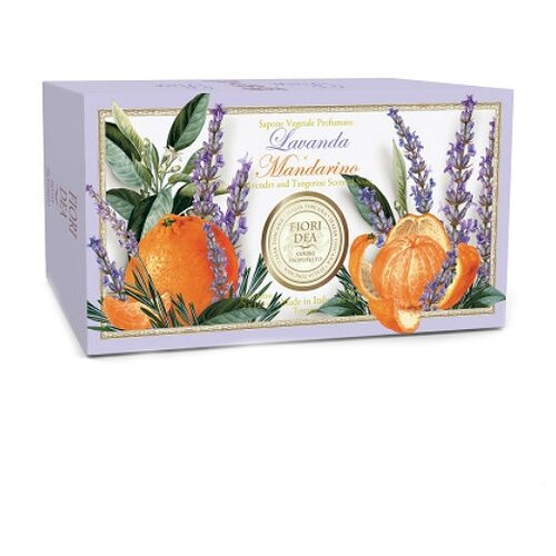 Мыло кусковое Fiori Dea Lavanda e mandarino, 2 шт., 125 г fiori dea бальзам для губ sweet