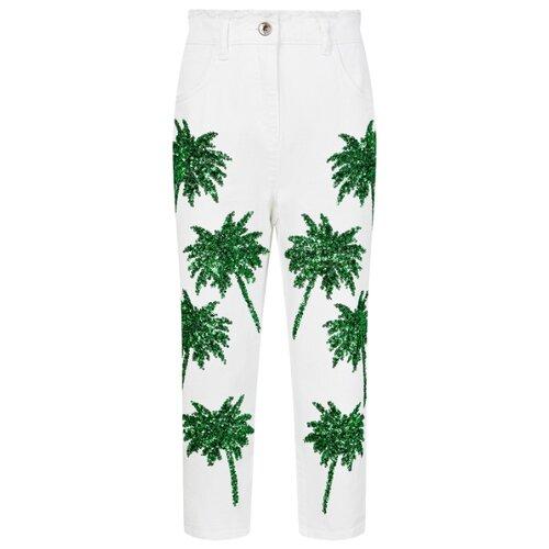 Джинсы PATRIZIA PEPE размер 152, 0325 белый/зеленый джинсы patrizia pepe размер 152 0325 белый зеленый