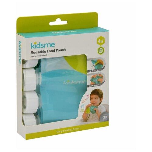 Купить Kidsme Пауч-контейнер для кормления и хранения детского питания 4 шт, Бутылочки и ниблеры