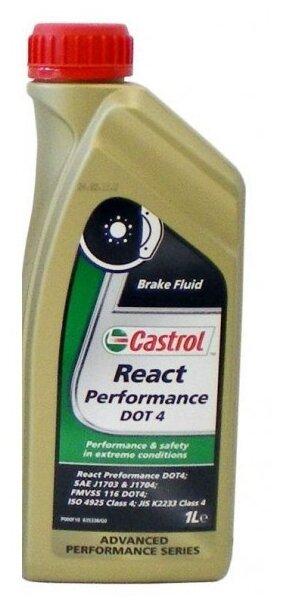 Тормозная жидкость Castrol React Performance DOT 4 1 л