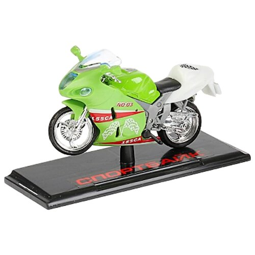 цена на Мотоцикл ТЕХНОПАРК Спортбайк (282927-R) 12 см салатовый