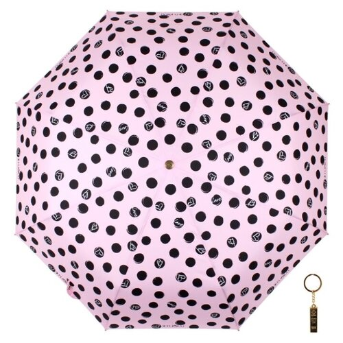 Зонт автомат FLIORAJ Premium Золотой брелок Горох розовый зонт автомат flioraj premium золотой брелок кошки черный