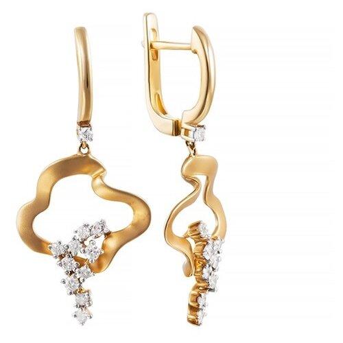 JV Золотые серьги с бриллиантами AAS-3831E-SR-YG