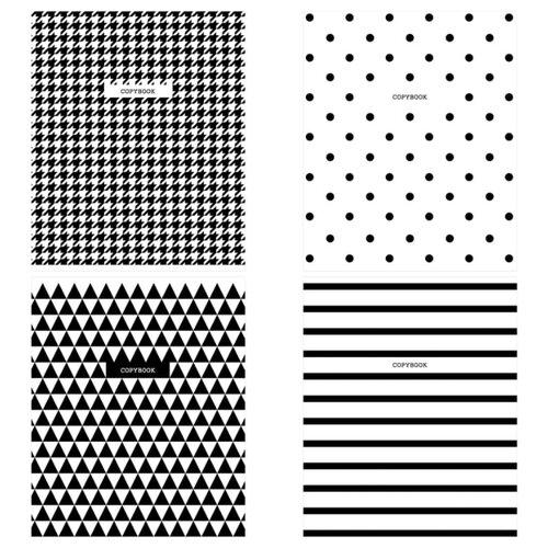 Купить ArtSpace Упаковка тетрадей Узоры. BW Pattern Т48к_29662, 10 шт./4 дизайна, клетка, 48 л., Тетради