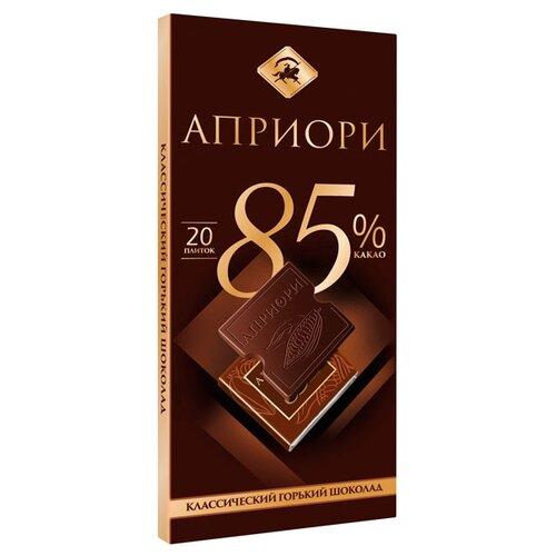 Шоколад Априори горький 85% какао порционный, 100 г шоколад cachet bio organic элитный бельгийский горький 85% какао танзания 100 г