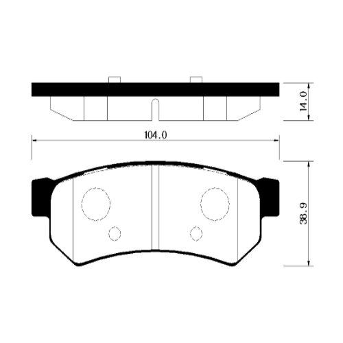 Фото - Дисковые тормозные колодки задние HONG SUNG BRAKE HP2020 для Daewoo, Chevrolet (4 шт.) дисковые тормозные колодки передние hong sung brake hp5010 для toyota land cruiser 4 шт