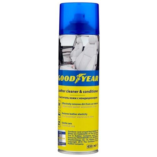 GOODYEAR Очиститель кожи с кондиционером для салона автомобиля GY000710, 0.65 л