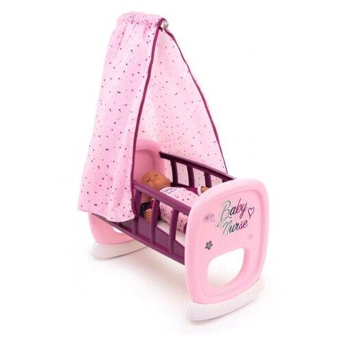 Купить Smoby Колыбель для пупса Baby Nurse (220338) розовый, Мебель для кукол
