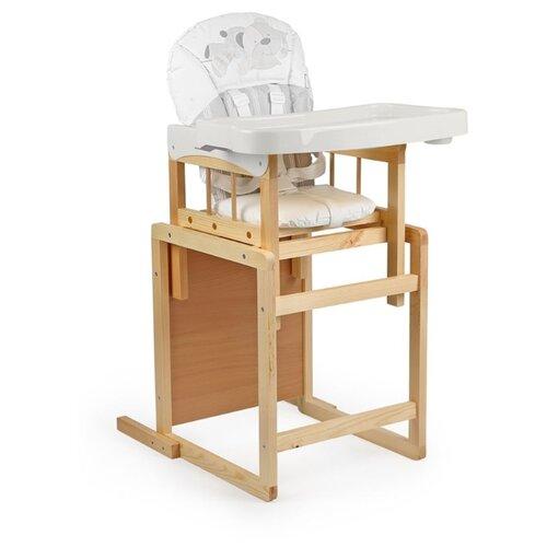 Купить Стульчик-парта GLOBEX Мишутка New белый, Стульчики для кормления