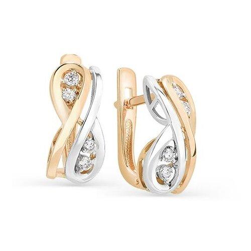 Мастер Бриллиант Серьги с 8 бриллиантами из красного золота 2-106-567 мастер бриллиант кольцо с 6 бриллиантами из красного золота 1 106 567 размер 18 5