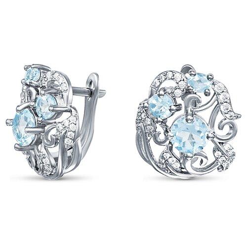 Silver WINGS Серьги из серебра топаз, куб.цирконий 22knys1440-155