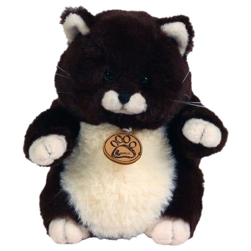 Мягкая игрушка Lapkin Толстый кот горький шоколад 16 см