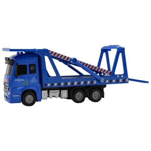 Машина-транспортер, кабина die-cast, инерционный механизм, свет, звук, 1:43 Funky toys FT61087