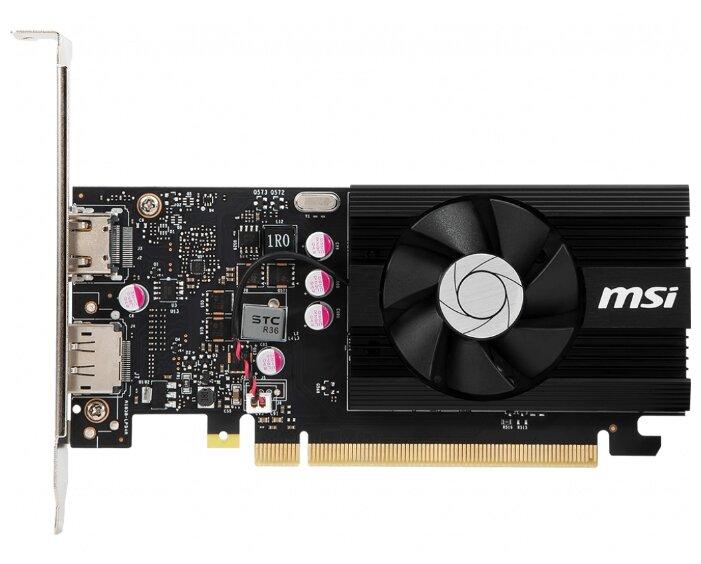 Видеокарта MSI GeForce GT 1030 1189MHz PCI-E 3.0 2048MB 2100MHz 64 bit HDMI HDCP Low Profile OC