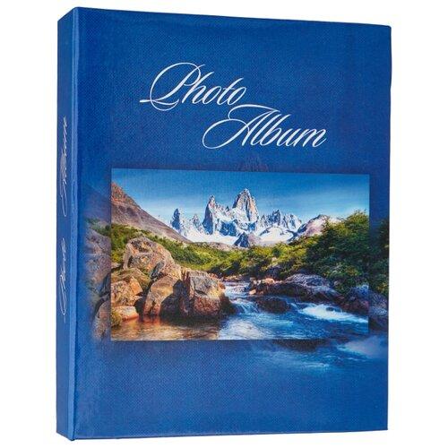 цена на Фотоальбом BRAUBERG Горный пейзаж (390669), 200 фото, для формата 10 х 15, синий
