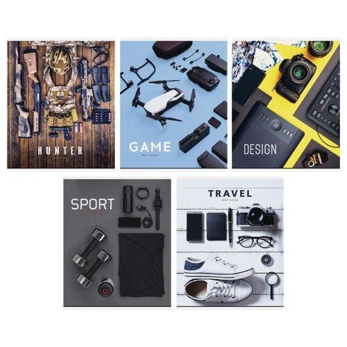 Купить ArtSpace Упаковка тетрадей Men's passion Т48к_24418, 10 шт./5 дизайнов, клетка, 48 л., Тетради