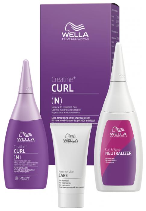 Wella Professionals CREATINE+ CURL - Велла Набор для химической завивки нормальных волос, от тонких до трудноподдающихся, 30+75+100 мл
