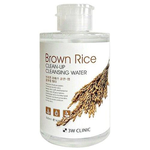 3W Clinic очищающая вода с экстрактом коричневого риса, 500 мл очищающая вода урьяж