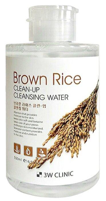 3W Clinic очищающая вода с экстрактом коричневого