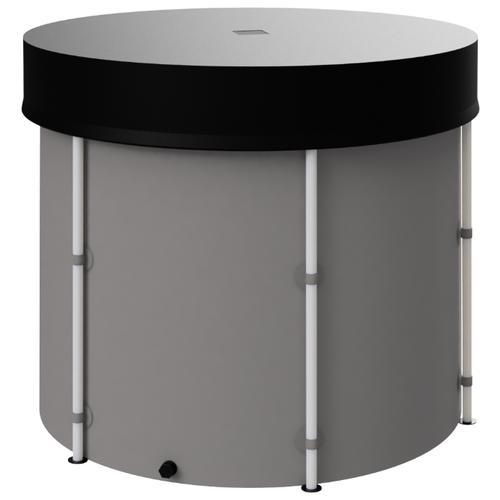 Складная ёмкость (бак/бочка) для воды EKUD 1000 литров с крышкой (h=100, d=115)