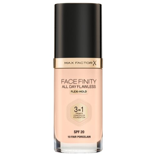 Фото - Max Factor Тональный крем Facefinity All Day Flawless 3-in-1, 30 мл, оттенок: 10 Fair Porcelain тональный крем для лица max factor facefinity all day flawless 3 in 1 30 мл