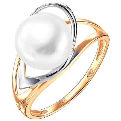 Фото - ПримаЭксклюзив Кольцо с 1 жемчугом из красного золота 190-1-921Р, размер 17 примаэксклюзив кольцо с 1 жемчугом из красного золота 190 1 921р размер 17