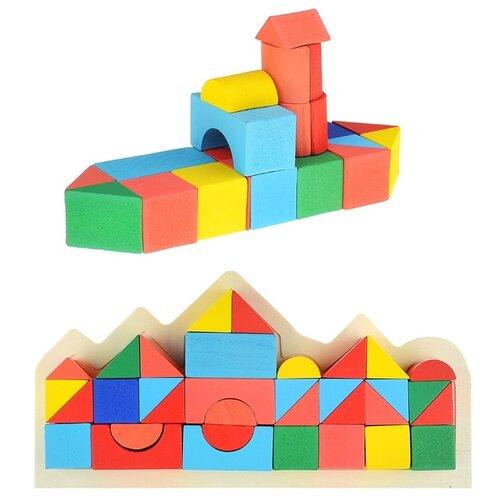Купить Деревянный конструктор Щепочка рамка, 34 детали (D0892), Детские кубики