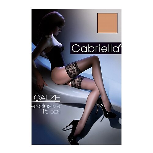 Чулки Gabriella Calze Exclusive, 15 den, размер 1/2, beige (бежевый)