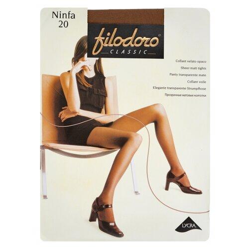 Колготки Filodoro Classic Ninfa 20 den, размер 5-XL, glace (коричневый) колготки filodoro classic dora 20 den размер 5 xl glace коричневый