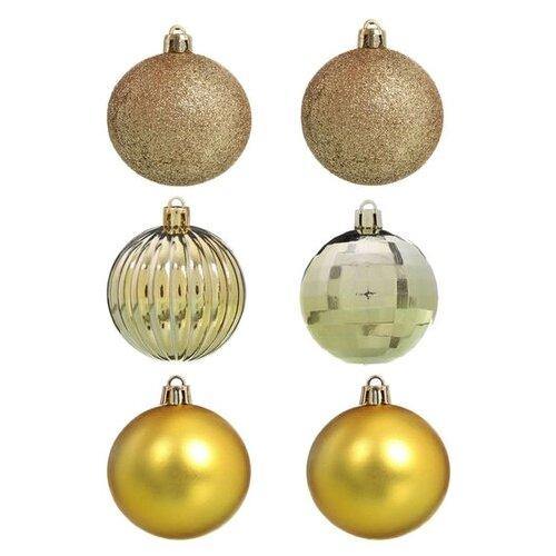 Набор шаров SNOWMEN Е96159, золотой, 6 шт. набор шаров snowmen ек0509 золотой 6 шт