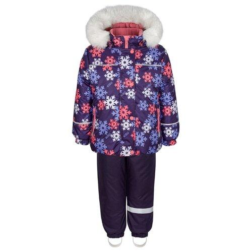 Купить Комплект с полукомбинезоном KISU размер 92, фиолетовый, Комплекты верхней одежды