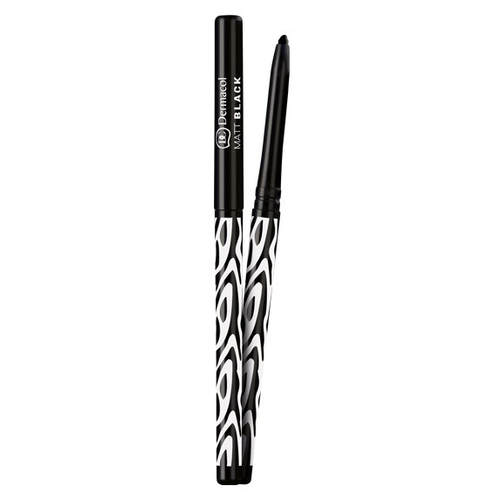 Dermacol Матовый автоматический карандаш для глаз Matt Black, оттенок черный