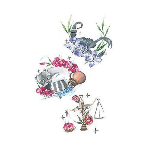 Polysfera Tattoo Авторская татуировка Tattoo PS&KG 003 серый/розовый