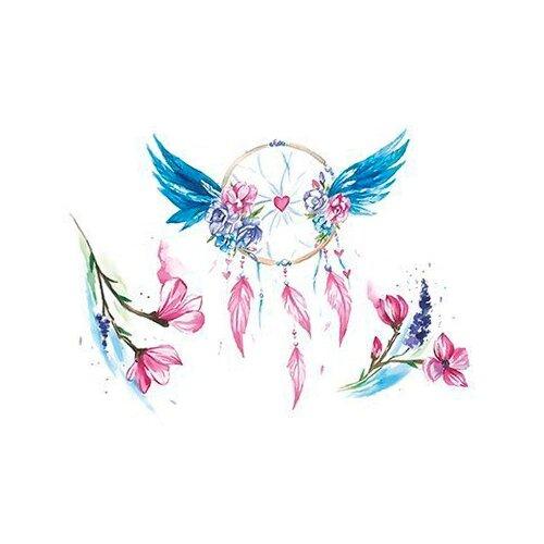 Polysfera Tattoo Авторская татуировка Tattoo PS&KG 0010 голубой/розовый