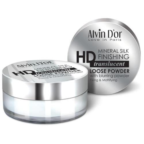 Alvin D'or Рассыпчатая фиксирующая пудра HD Mineral Silk Finishing Translucent Loose Powder LSP-02 цена 2017