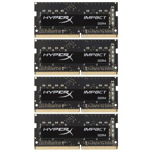 Купить Оперативная память HyperX Impact DDR4 2400 (PC 19200) SODIMM 260 pin, 16 ГБ 4 шт. 1.2 В, CL 15, HX424S15IBK4/64