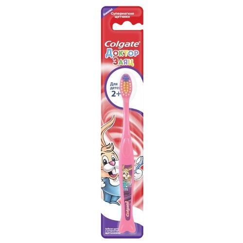 Зубная щетка Colgate Для Детей 2+, доктор заяц розовый