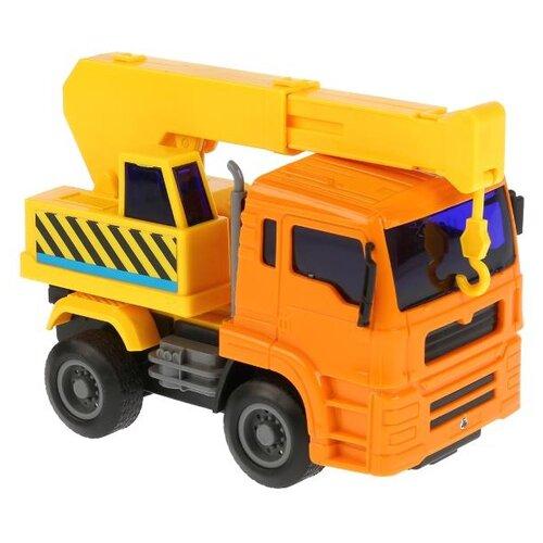 Купить Автокран TONG DE Спецтехника (T53-D5639) оранжевый/желтый, Машинки и техника