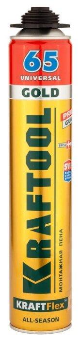 Монтажная пена Kraftool KraftFlex Gold Pro 65 41194 850 мл всесезонная