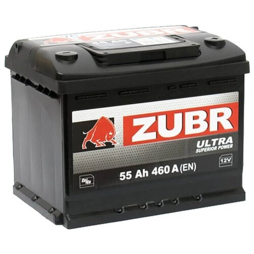 ZUBR Аккумуляторная батарея автомобильная Ultra 55 A/h прямая полярность