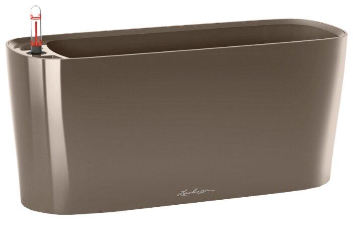 Кашпо LECHUZA DELTA 20 настольное с автополивом с субстратом в комплекте 15х40х18 см серо-коричневый