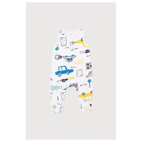 Ползунки crockid, размер 56, дорожное движение на белом