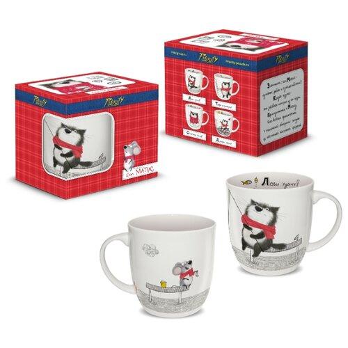 Кружка PrioritY Кот Матис. Лови удачу!, 380 мл (подарочная коробка) посуда и инвентарь priority кружка кот матис счастье есть в подарочной коробке 380 мл