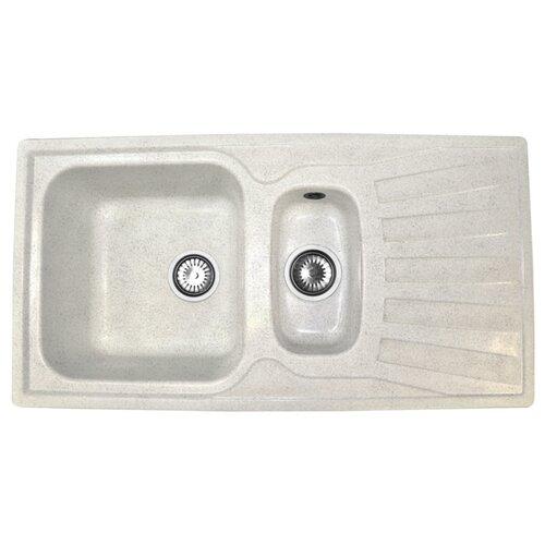 Врезная кухонная мойка 94 см А-Гранит M-09K белый врезная кухонная мойка 73 см а гранит m 18 m 18 315 розовый